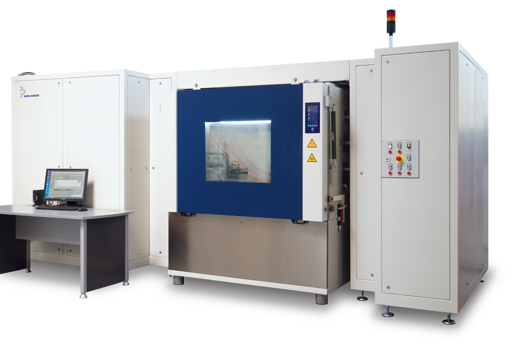 Pressure Cycle Test Bench with large Environmental Chamber and Computer System